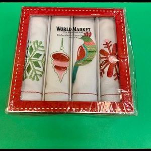 World Market Holiday linen napkins